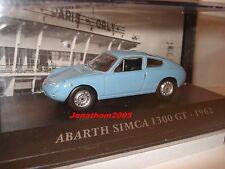 VOITURES FRANCAISES D'AUTREFOIS ABARTH SIMCA 1300 GT 1962 au 1/43°