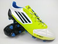 Adidas Men Rare F50 adizero TRX FG Leather V21433 White Lime Soccer Cleats Boots