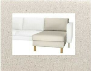 IKEA KARLSTAD Chaise SEAT Slipcover Lynneryd Natural Chaise Top Cover- 1 Piece