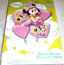 Anagram BABY MINNIE 1st BIRTHDAY Foil Balloon Bouquet 5 Balloons