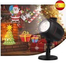 OUSFOT Navidad Luces Proyector Impermeable Exterior, Decoración, 16 diapositivas