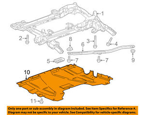 Cadillac GM OEM 13-15 ATS Front-Lower Shield 23209134