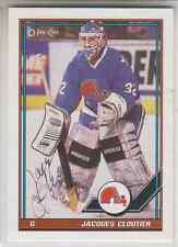 Autographed 91/92 OPC Jacques Cloutier - Nordiques