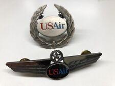 Authentic Vintage USAir Pilot Wings And Hat Emblem