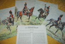 PLANCHES UNIFORMES 1er EMPIRE N°14 P.CONRAD   ROUSSELOT .LELIEPVRE .RIGO   14a