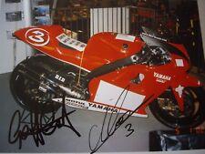 MAX Biaggi & Geoff crosta firmata YAMAHA YZR500 GRAND PRIX A4 Fotografia