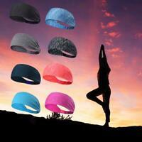 Unisex Women Men Stretch Headband Sport Sweat Sweatband Yoga Gym Hair Band Athle