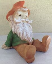 Vintage Garden Gnome 1990s Universal Statuary 1993 resin sitting 044 decor troll