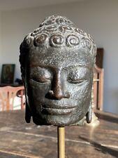 More details for large thai bronze buddha head mon dvaravati period 6th to 11th century