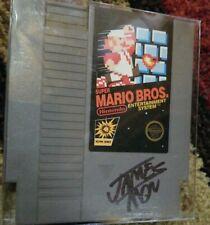 Nintendo (NES) Super Mario Bros. ORIGINAL game James Rolfe Black Autograph w/COA