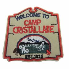 """Friday the 13th Camp Crystal Lake 3"""" Tall Embroidered Iron on Patch"""
