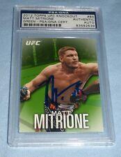 Matt Mitrione Signed 2012 Topps Knockout UFC Green Card PSA/DNA COA 18/88 Auto'd