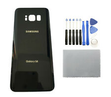 Samsung Galaxy S8 G950 Black Glass Back Cover Housing Battery Door +12