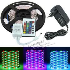 3528 SMD RGB 5M 300Leds Flexible Light Strip Lamp+24Key Remote+2A Power Supply