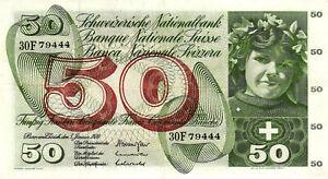 05 Switzerland / Schweiz P48j 50 Franken 1970