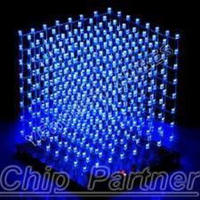 Farbe 8x8x8 3D LightSquared DIY Kit 3mm LED Cube White LED Blue Ray Brand