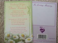"IN LOVING MEMORY ""THINKING OF YOU DEAR FRIEND"" GRAVESIDE MEMORIAL CARD"