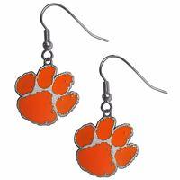 Clemson Tigers Dangle Earrings (Zinc) NCAA Licensed Jewelry
