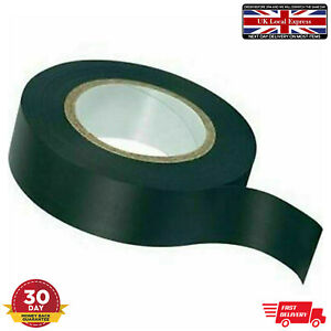 10m Black Adhesive PVC Tape Electrical Insulation Wide Cable Flame Retardant DIY