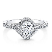 Engagement Rings Size 5 6 7 8 14K Solid White Gold 1.82 Carat Princess Diamond