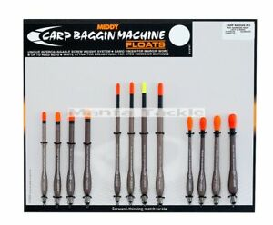 NEW 4 x Middy Carp Baggin Machine Waggler Floats Straight Insert Boulb 1g - 2.5g