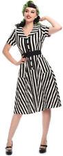 Collectif BRETTE Vintage STRIPED Streifen Diner 50s SWING Dress KLEID Rockabilly