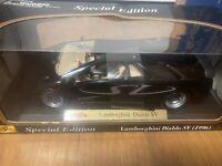 LAMBORGHINI DIABLO SV BLACK 1/18 DIECAST MODEL CAR BY MAISTO 31844
