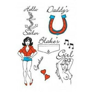 Amy Winehouse Temporary Tattoos Pop Idol Fancy Dress Party Accessory