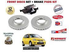 Pour honda logo 1.3 D13B7 2000 - 2001 neuf disques de frein avant set + disc pad kit