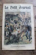 Petit journal illustré N°979 1909 Catastrophe Longjumeau Noce Patin à roulettes