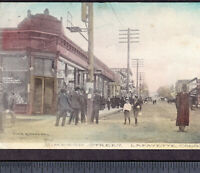 Lafayette Colorado Antique 1909 PostCard Drugstore Street View by Fine & Coulson