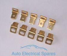 RING TERMINALE 6,3 mm Maschio non isolati unico tag 90 gradi in ottone x 10