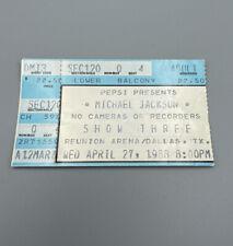 Michael Jackson Bad Tour Concert Ticket Stub 1988 Rare