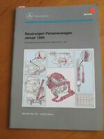 Mercedes Service Neuerungen PKW Januar 1996 - W 210  --- M 104 - M 119 - OM 602