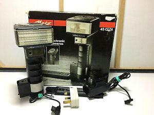 METZ 45 CL-4 FLASH FLASHGUN - Complete Kit with Brackets, Charger, Nikon Lead