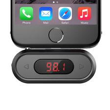 Negro 3.5mm en Coche Universal inalámbrico transmisor de FM Radio Kit para