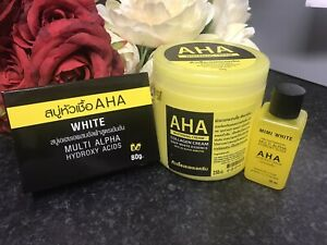Special Offer-  1 X AHA FAMILY BEAUTY PRODUCTS-Body Cream,Body Soap & Body Serum