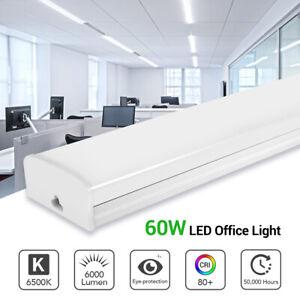 60W LED Batten Tube Ceiling Light Bar Strip Panel Lamp Office Warehouse UK