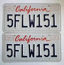 Just for Collecting California Lipstick Script License Plates Expired