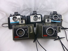(5) Vintage Polaroid Land Camera  - ColorPack II, Square Shooter, Super Shooter