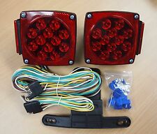 12V LED Trailer Light Kit Multi-Function Tail Lights DOT