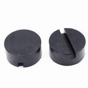 2Pcs Car General Floor Jack Disk Pad Adapter Pinch Weld Side Jackpad Rubber