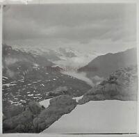 Montagne Neige Francia Foto Stereo PL59L1n64 Placca Da Lente Vintage c1910