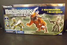 New 2007 Mega Mag Warriors Bonus Set 2 MagWarriors 1 BeastRider 41 Pcs BNIB