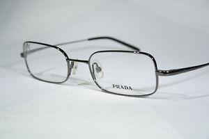 Size Large Titanium PRADA VPR55E 5AV-101 Dark Crome Minimalistic Glasses Frames