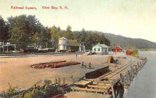 Alton Bay Nh Railroad Square Station Train Depot Lake Postcard