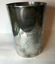 1920's Elkington Plate Tankard Engraved The Pheonix Buffet Durban South Africa