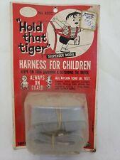Vintage NOS Mid Century Hold That Tiger Nylon Child Car Harness Suspender Model