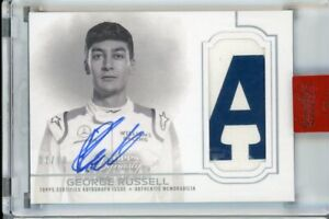 2020 Topps Dynasty F1 Formula George Russell Patch Auto #ed 1/10