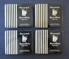 lot 4 boites cigarettes MARCOVITCH Black & White cigarette tin box